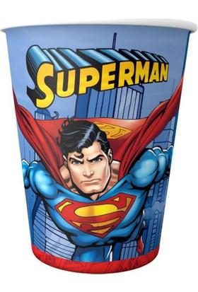 Tahtakale Toptancısı Bardak Superman Temalı 180/200 CC (8 Adet)
