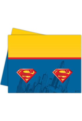 Tahtakale Toptancısı Masa Örtüsü Superman Temalı 120X180 Cm