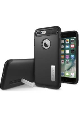 Spigen Apple iPhone 8 Plus - iPhone 7 Plus Kılıf Slim Armor Black 043CS20648