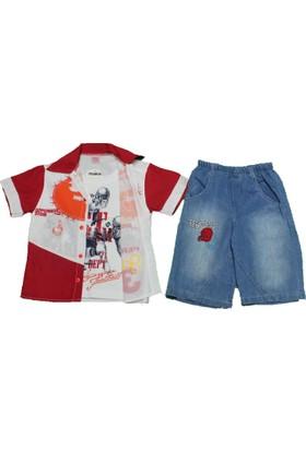Happy 664 Çocuk Şortlu Takım Kırmızı