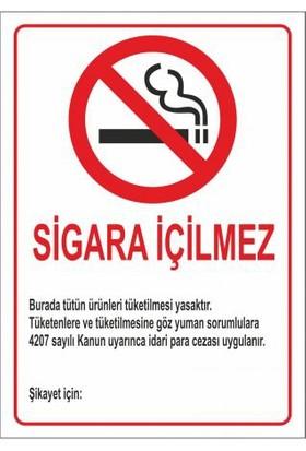 """Modülerteknik """"Sigara İçmek Yasaktır"""" 25X35cm"""