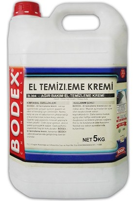 Bodex Ağır Bakım El Temizleme Kremi 5 kg
