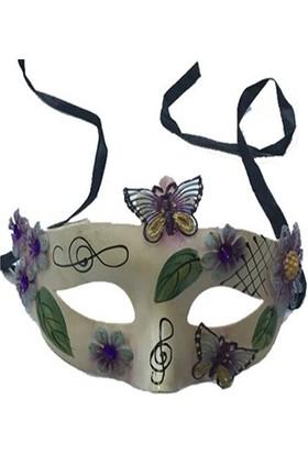 Tvs Kelebek Temalı Parti Maskesi
