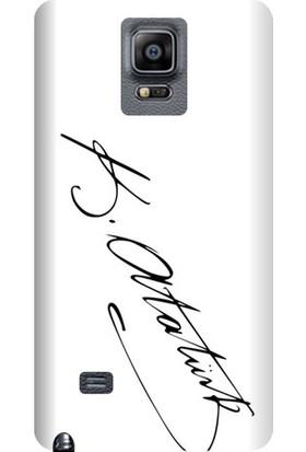 Kapakolur Samsung Note 4 Atatürk İmza Kapak Kılıf + Koruyucu Cam