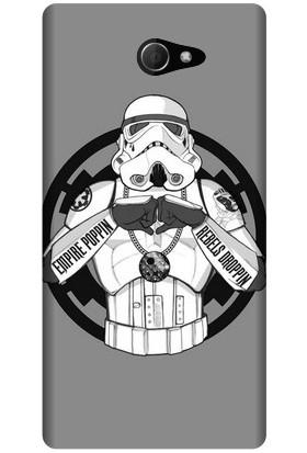 Kapakolur Sony Xperia M2 Star Wars Baskılı Kapak Kılıf + Koruyucu Cam