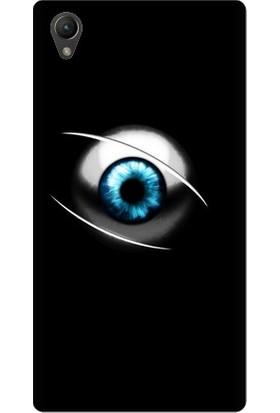 Kapakolur Sony Xperia Z5 Göz Baskılı Kapak Kılıf + Koruyucu Cam