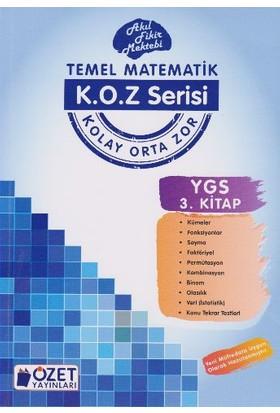 Özet Yayınları K.O.Z Serisi Ygs Matematik 3