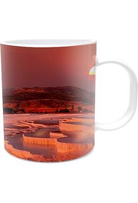Fotografyabaskı Pamukkale Gün Batımı Beyaz Kupa Bardak Baskı