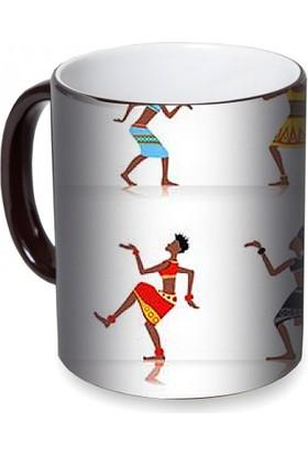Fotografyabaskı Afrikalı Dansçılar Sihirli Siyah Kupa Bardak Baskı