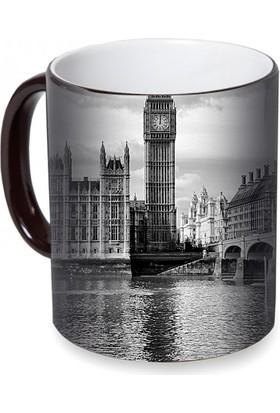Fotografyabaskı Parlamento Binası Londra Sihirli Siyah Kupa Bardak Baskı