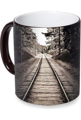 Fotografyabaskı Tren Yolu Sihirli Siyah Kupa Bardak Baskı