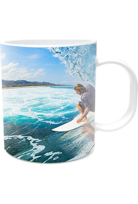 Fotografyabaskı Surf Beyaz Kupa Bardak Baskı