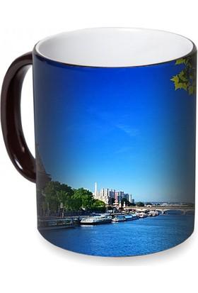 Fotografyabaskı Eyfel Kulesi Paris Sihirli Siyah Kupa Bardak Baskı
