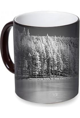 Fotografyabaskı Donmuş Göl Sihirli Siyah Kupa Bardak Baskı