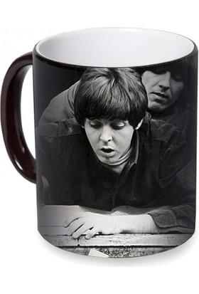 Fotografyabaskı The Beatles Sihirli Siyah Kupa Bardak Baskı
