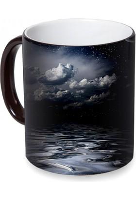 Fotografyabaskı Gece Gökyüzü Sihirli Siyah Kupa Bardak Baskı