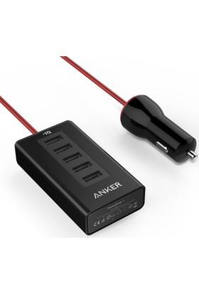 Anker PowerDrive 5 50W 5 Port Araç Şarj Cihazı