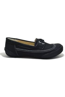 Baldano Siyah Ortopedik Büyük Numara Kadın Günlük Ayakkabı