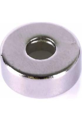 Neodyum Mıknatıs D15X5X5 Delikli 5 Adet