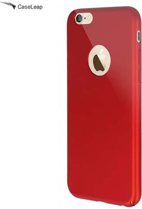 Case Leap İphone 6/6S Plus Tam Korumalı İnce Rubber Kılıf Kırmızı