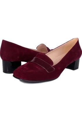 Loggalin 375023 031 625 Kadın Bordo Günlük Ayakkabı