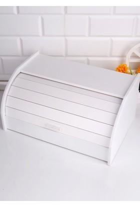 Hiper Ahşap Storlu Ekmek Dolabı Beyaz