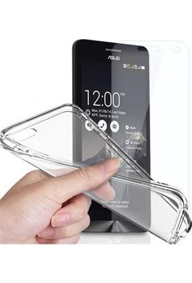 Angel Eye Asus Zenfone 2 5,5 Ekran Koruyucu + Şeffaf Silikon Kılıf