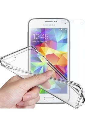 Angel Eye Samsung Galaxy S5 Mini Ekran Koruyucu + Şeffaf Silikon Kılıf