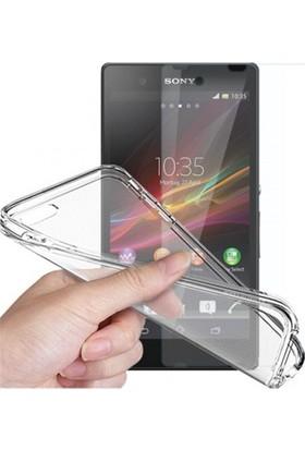 Angel Eye Sony Xperia Z5 Ekran Koruyucu + Şeffaf Silikon Kılıf