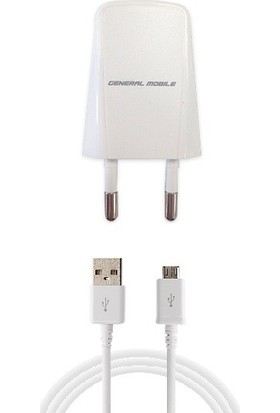 General Mobile Micro USB Cihazı Ev Şarj Aleti - PT120 (İthalatçı Garantili)