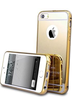 Teleplus Apple iPhone 5s Aynalı Metal Kapak Kılıf Gold