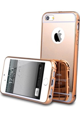 Teleplus 	Apple iPhone 5 Aynalı Metal Kapak Kılıf Rose Gold