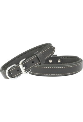 Doggie Siyah Deri Köpek Tasması 40x65 cm Large