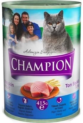 Champion 24 Adet Ton Balıklı Kedi Konservesi 415 gr x 24