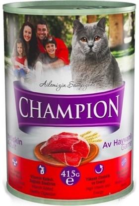 Champion 24 Adet Av Hayvanlı Kedi Konservesi 415 gr x 24