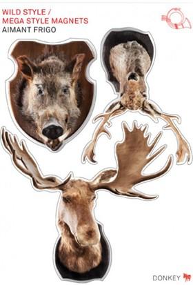 Donkey Wild Style Ahşap Magnet