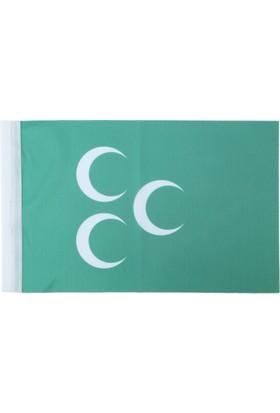 Ekin Bayrakçılık Osmanlı Bayrağı 3 Hilal 70x105cm.
