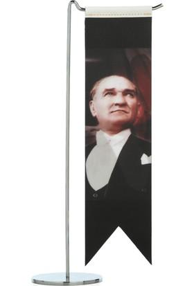 Ekin Bayrakçılık Atatürk Tekli Masa Bayrak Takımı