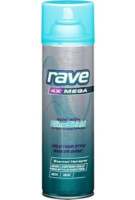 Rave 4X Mega Aerosol Hairspray, with ClimaShield