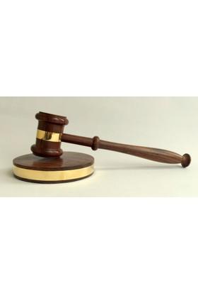 Mnk Hakim Tokmağı - Adalet Tokmağı Pirinç Süslemeli
