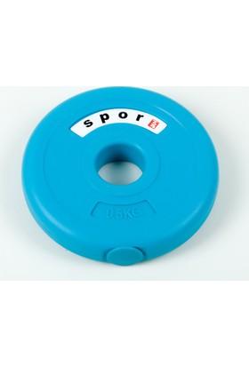 Spor 724 0,5 Kg. Vinyl Plaka Flanş 1 Adet ( Dambıl Halter Ağırlık Seti Kondisyon Aleti Spor Malzemesi ) Vp050C