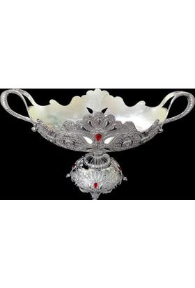 Gümüş Gondol Kırmızı Taşlı Kararmaz 9001L-31B-Kr