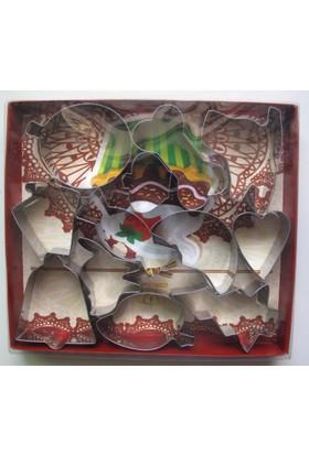 Mpa Hellman 12 Parça Metal Kurabiye Kalıbı Seti