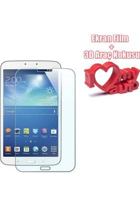 CoverZone Samsung Galaxy Tab E 8.0 SM-T377 Temperli Ekran Filmi + Araç Kokusu