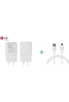 Vip LG Orijinal Şarj Cihazı + USB Kablo Beyaz - MCS-04ED/B