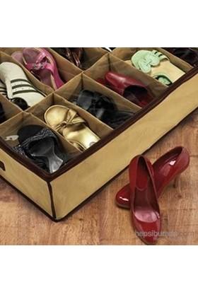 Vip Ayakkabı Saklama Çantası 12 Bölmeli Shoes Under