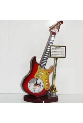 Vip Gitar Tasarımlı Dekoratif Masa Saati