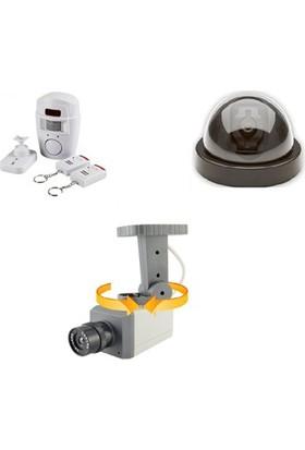 Vip Hareket Sensörlü Sahte Kamera Ve Kablosuz Hırsız Alarmı Seti Model1