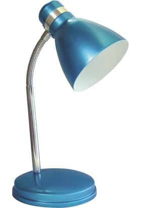 Nisaluce Modern Krom Spiralli Masa Lambası Mavi