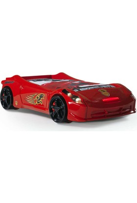 Setay Ferrari Mini Arabalı Yatak , Kırmızı 70*140